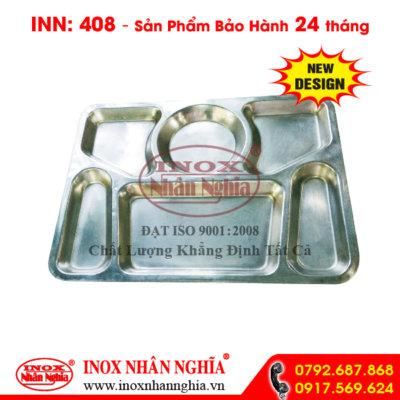 Khay inox 6 ngăn mẫu 408
