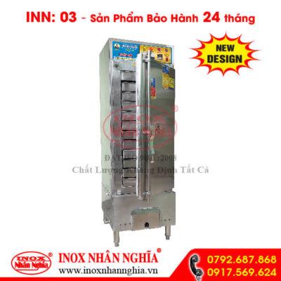 tủ hấp cơm sử dụng gas và điện không kính