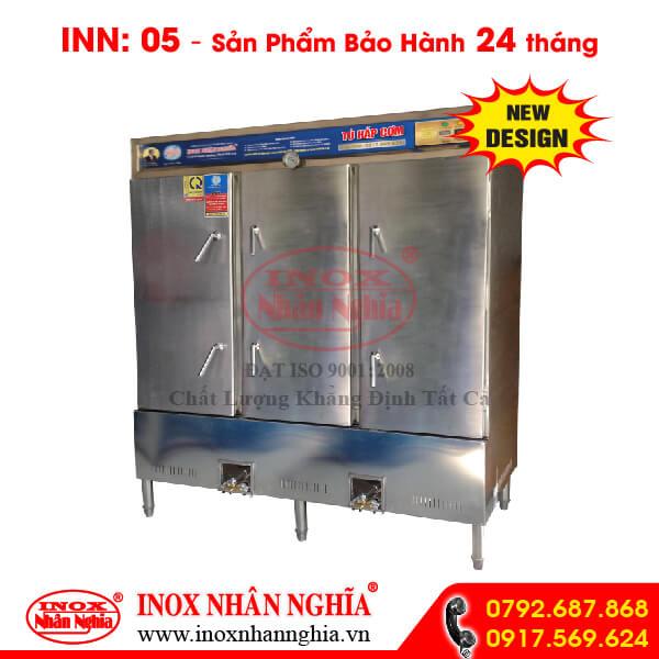 tủ hấp cơm 150kg sử dụng gas và điện