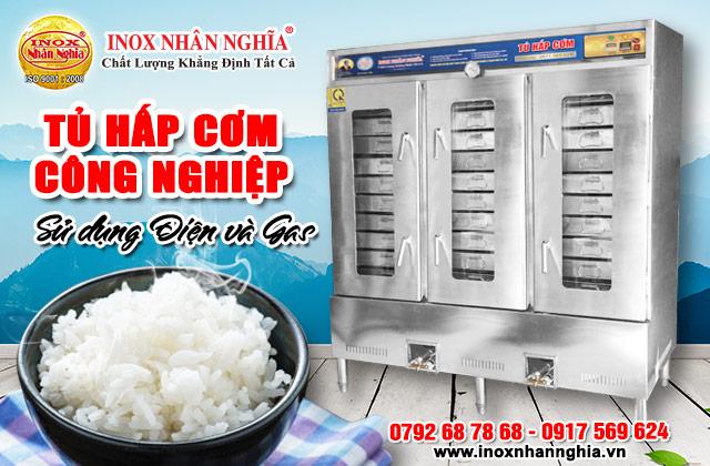 tủ hấp cơm nhân nghĩa sử dụng gas và điện