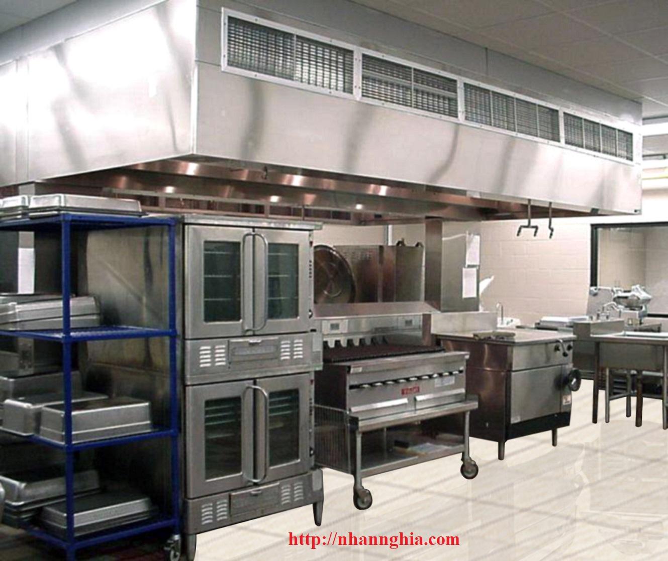 thi công bếp nhà hàng