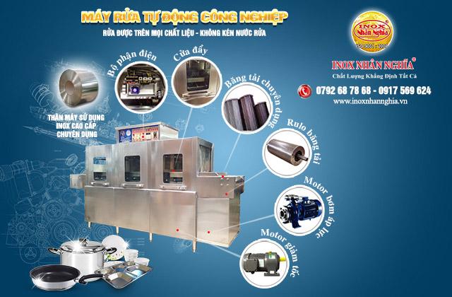cấu tạo máy rửa khay chén đĩa bát