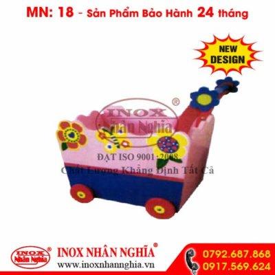 xe đẩy búp bê màu xanh hồng