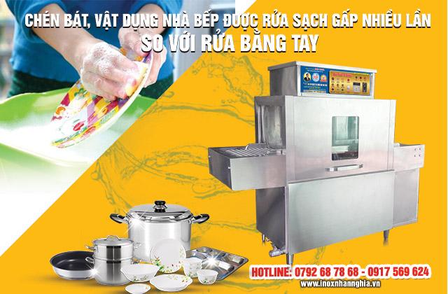 máy rửa chén nhanh gấp 10 lần rửa bằng tay