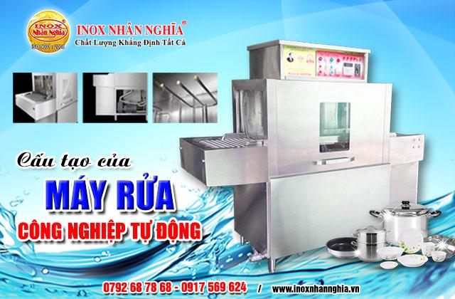 cấu tạo máy rửa công nghiệp loại vừa