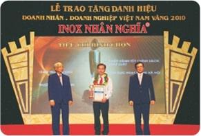 lễ trao tặng danh hiệu doanh nghiệp vàng