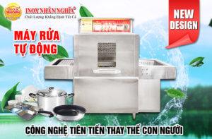 công nghệ thay thế con người với máy rửa bát công nghiệp giá rẻ