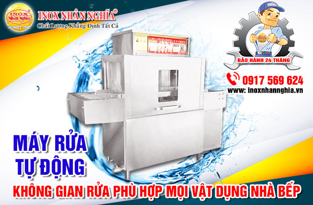 Máy rửa công nghiệp tự động không gian rửa phù hợp mọi vật dụng