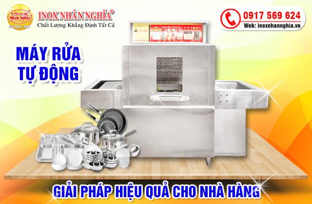 Máy rửa bát công nghiệptự động giải pháp cho nhà hàng