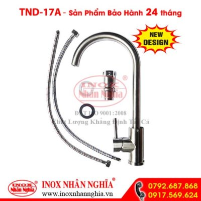 Vòi nước rửa chén nóng lạnh tròn 304