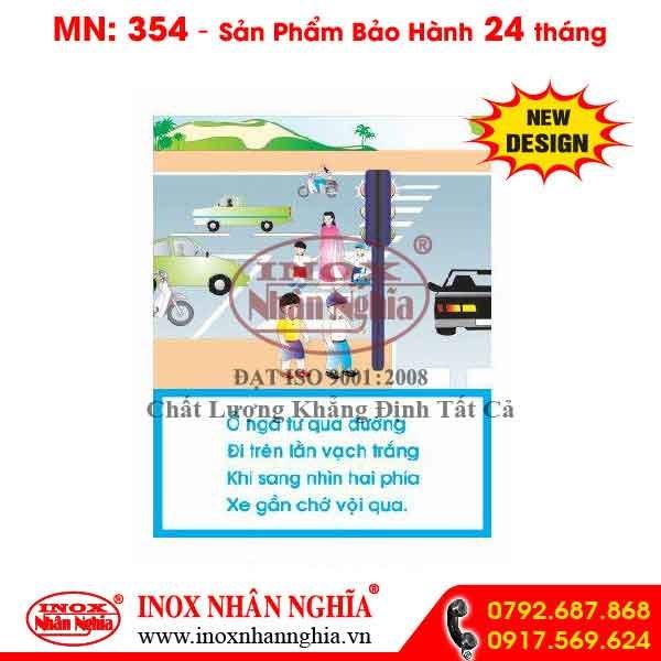 Bảng tuyên truyền giao thông 354