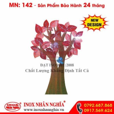 Hình cây lá đỏ trang trí